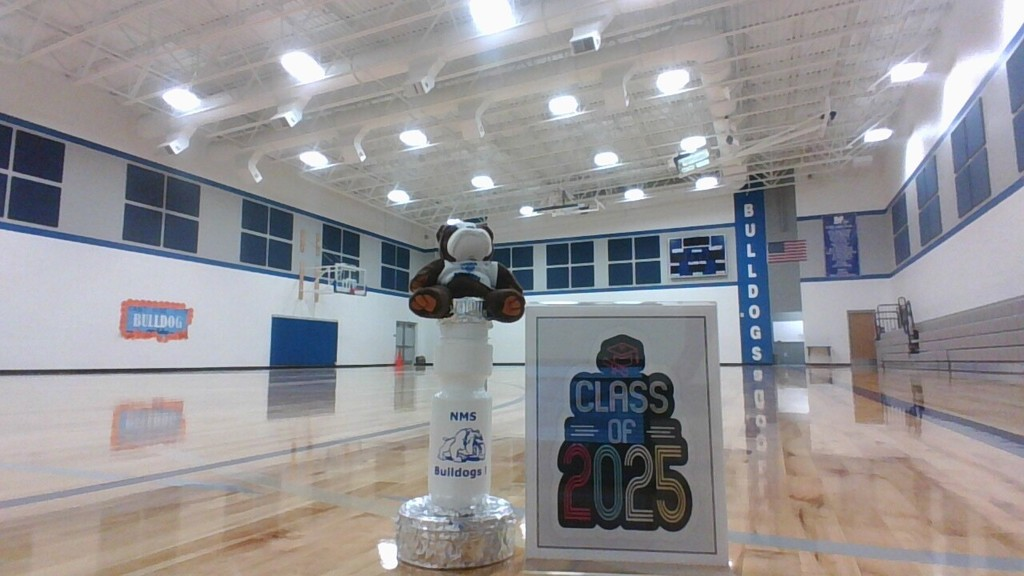 Redone gym floor and NMS spirit trophy