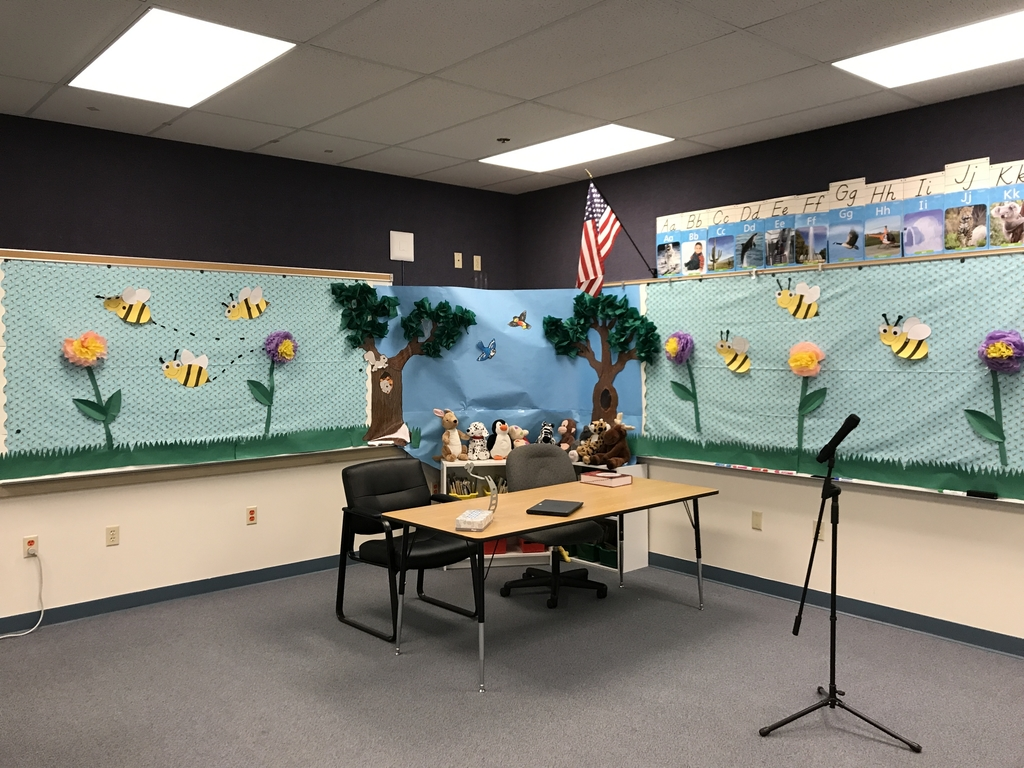 The scene is set - will you be with us at the Malheur County Spelling Bee? Tomorrow at 8:00!